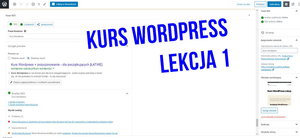 kurs wordpress