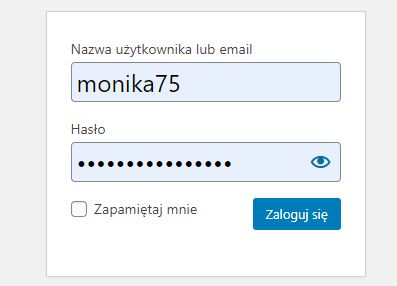 login i hasło do wordpressa